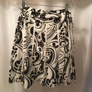 Black and White Fit and Flare Apt 9 Skirt